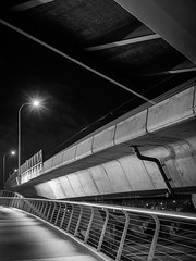 Under the Zakim (Dan Squires) Tags: longexposure boston night ma zakim bronicarf645 fujiacros100 npy