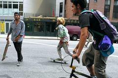 skateboard (omoo) Tags: newyorkcity boys bicycle fun skateboarding westvillage teenagers teens skateboards streetscenes greenwichvillage havingfun skateboarders teenageboys wheretogo whichdirection boysatplay dscn0106 boysinthevillage seventhavenuesouthatmortonstreet