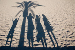 Family fun on the beach (The Green Album) Tags: family boy sun holiday tree beach girl fun happy sand dad shadows palm mum setting