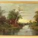 47. 19th Century Oil Painting of Lake Scene