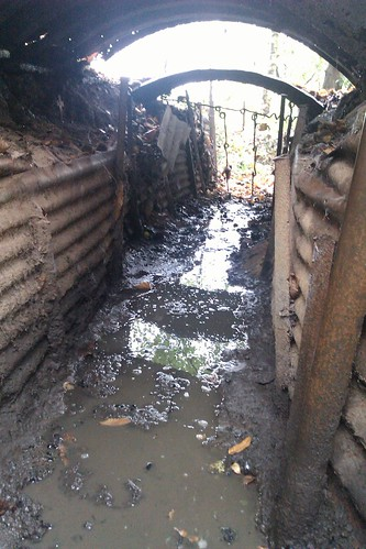 Wet WW1 Trench: Sanctuary Wood