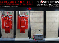 Custom Ghostbusters Containment Unit w/ Lights & Sounds - Comparison w/ Original (MCcustoms) Tags: dan toy lights bill ray vinz action ghost mint peter figure custom murray winston sounds mattel ghostbusters venkman egon unit slimer ecto condition spengler containment zuul aykroyd gozer stantz zeddemore clortho