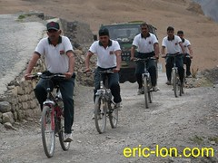 Cycling at Kibber (3) (Eric Lon) Tags: school india lake mountains bike yoga trekking trek buddha lac monk bouddha tibet trail lane teaching himalaya sentier velo monastere vtt ecole spiti association inde montagnes bouddhisme marcher moine enseignement kibber ericlon byking randonner yogatrekking tibetindien