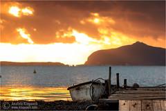 Ho perso le parole (Anatole Klapouch) Tags: ocean sunset sea italy mountain castle water clouds island pier boat mediterranean italia sicily nubia sicilia trapani favignana egadi