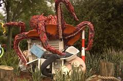 Trash-Sculpture Octopus