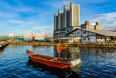 A boat and a Tower (Irwin Day) Tags: muara karang angke
