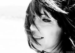 Elisabetta - Shooting (greta.ferrari - ombre a colori) Tags: monocromo donna nikon persone occhi di ritratto disegno viso biancoenero interni capelli sfondo surreale d5100