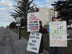 DSCN6547 (WildEarthGuardians) Tags: protest wyoming climate publiclands leasing oilandgas fracking keepitintheground