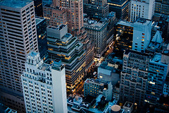 New York - Night streets (vincos) Tags: street city nyc newyork night lights skyscrapers fromabove