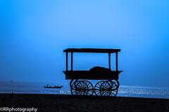 Early morning marina chennai (sathishkumar29) Tags: morning blue sea black water fishing silhouettes marinabeach chennai glittering