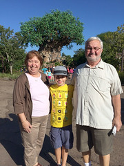 At Animal Kingdom (Sam Howzit) Tags: grandmother grandfather grandson waltdisneyworld treeoflife athan grandparich grandmaantoinette disneysanimalkingdomthemepark