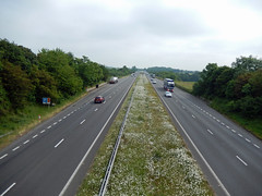 A55, 2016 Jun 08 (Dunnock_D) Tags: road uk trees england sky cloud tree green grass grey cloudy unitedkingdom britain expressway median verge a55 northwalesexpressway