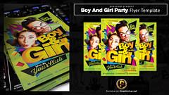 Boy And Girl Party Flyer Template (prassiod) Tags: blue boy green girl yellow club print poster flyer couple dj purple parties event drug template nightclubflyer birthdayflyer teenparty sexyposter sexyflyer prassiod