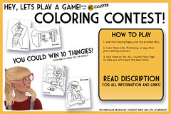 -RC- Cluster Coloring Contest! (-RC- Cluster) Tags: game color art kids painting fun book kid paint pages contest free winner coloring colored win crayons crayon markers freebies rccluster