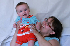 Mother and baby (WaterBugsPics) Tags: family blue boy 2 two portrait people baby male boys face childhood horizontal closeup kids youth portraits children happy daylight kid infant day babies child lads faces head families mother naturallight headshot mothers portraiture heads lad daytime studioshot headshots closeups infants twopeople babyboy 13months bairn featured onechild horizontals bairns colorimage studioshots chrispics babyboys colourimage familywithonechild colorimages colourimages malebaby malechild malechildren janisjansmithpics malebabies