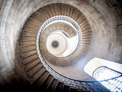 That circular staircase at St Pauls (Semi-detached) Tags: old uk shadow england london history church st architecture ancient cathedral britain interior united wwii rail kingdom pauls historic coronation ascend asend