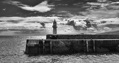 The Lighthouse (Tilney Gardner) Tags: blackandwhite bw lighthouse nikon cornwall harbour mevagissey