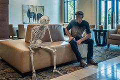 Soooo... You been waitin' long? (The.Mickster) Tags: portrait self skeleton wait randy 365 hdr hereios