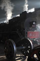 I_B_IMG_7421 (florian_grupp) Tags: china railroad train landscape asia mine desert muslim railway steam xinjiang mikado locomotive ore js steamlocomotive 282 opencastmine yamansu