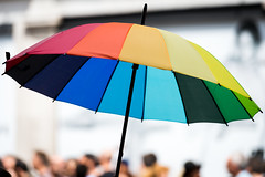 All The Colors Of The Rainbow (Sean Batten) Tags: street city england urban london colors umbrella rainbow unitedkingdom streetphotography pride gb regentst