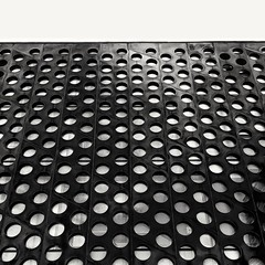 Connect Four -  Forza 4 (cosmosushi) Tags: travel sky blackandwhite white abstract black detail building geometrico glass monochrome architecture modern facade circle monocromo blackwhite pattern phone erasmus artgallery geometry contemporary steel bubbles cielo astratto architettura lithuania vilnius acciaio motivo contemporanea phonography oneplus oneplustwo snapseed oneplus2