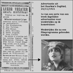 After the movie the home trainer matches 1921 (letterlust) Tags: 1920s haarlem 1920 20s twenties luxortheater hometrainer jaren20 aos20 bicyclehistory fritswiersma dutchbicyclehistory letterlust zwanzigerjahren