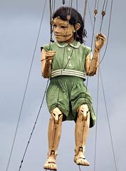 Dancing Queen (Mr Grimesdale) Tags: streetart liverpool littlegirl giants merseyside stevewallace seaodyssey mrgrimesdale