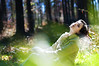 about collecting good moments (laura zalenga) Tags: portrait woman tree green nature girl grass forest self colorful bokeh coat enjoy nikond5000 ©laurazalenga