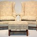 82. Pair of Wing Chairs and Single Ottoman