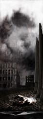 le cheval de Turin (laboratoire de l'hydre) Tags: old city urban blackandwhite terrain collage architecture photoshop de cheval noiretblanc ruine photomontage nuage bela paysage exploration vague turin plage gdansk ville abandonned tarr ancien banlieue tempte moutiers pologne pav tarkovski baltique radeau scenographie envol exploratio naufrags