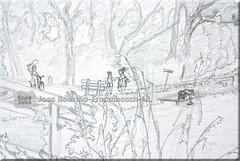 Tjuchem detail C (creating more portraits...) Tags: playing water swimming pencil canal wasser dorf village schwimmen drawing bridges kanal kanaal groningen bleistift dorp spielen slochteren brcken spelen zwemmen potlood bruggen tjuchem