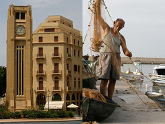 new beirut - lebanon (Emmanuel Catteau photography) Tags: new city travel sea lebanon tower clock tourism boat fisherman war holidays downtown photographer reporter center tourist east traveller civil national journey planet conde lonely middle beirut geo economy geographic nast catteau