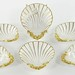 2032. Group of (6) KPM Partial Gilt and Bone China Shell Shaped Side Dishes