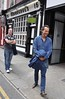 Richard E. Grant leaves Dublin's famous O'Donoghue's pub and hotel after filming for his new Sky Atlantic travel series 'Hotel Stories' Dublin, Ireland