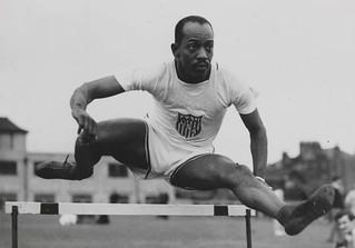 Harrison Dillard in the hurdles, Olympic Games...