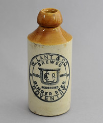 Bottle by W Lant & Co , Coventry (robmcrorie) Tags: brown beer century ginger bottle dump lemonade rubbish coventry warwickshire 19th stoneware lant