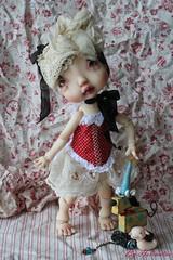 Envie de rouge pour Colombyne (heliantas) Tags: doll body handmade bjd kane humpty dumpty blushing faceup nefer