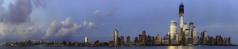 New York City (Geoff Sills) Tags: world new york city nyc blue light sunset sky panorama apple beautiful clouds america river lights coast big twilight nikon long dusk geoff manhattan 14 large 85mm center william east hudson geoffrey trade 2012 sills 14g d700