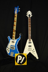"LEGO ""FLCL"" Flying V and Rickenbacker 4001 (ChrisR18t) Tags: lego guitar gibson flcl rickenbacker flyingv cooly 4001 fooly"