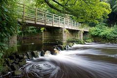 Nidd Gorge (M Hillier) Tags: bridge summer england english water river landscape rocks long exposure britain yorkshire north vegetation british slack knaresborough nidd