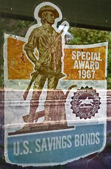 The good old days..... (Rob Sneed) Tags: county abandoned window sign freedom us office woods texas post notes award east special 1967 savings bonds interest 59 polk piney maturity shares