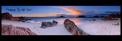 Storm-Approaching (Kiall Frost) Tags: ocean panorama water clouds digital sunrise sand nikon rocks stitch pano australia panoramic nsw nelsonbay portstephens shoalbay nn5 nodalninja d7000 kiallfrost