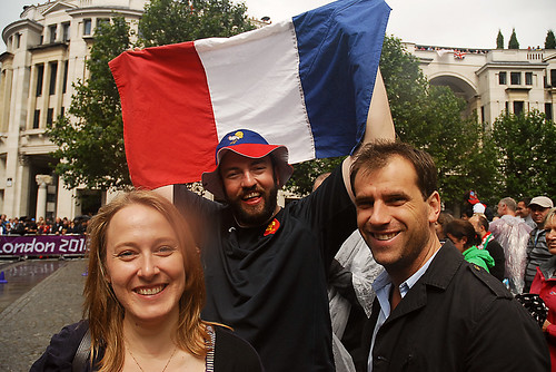 Happy Gallic Supporters of the Olympics