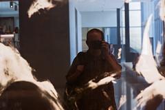 UMMA Self Reflection (matthewkaz) Tags: blackandwhite bw selfportrait reflection me museum michigan annarbor umma universityofmichigan 2011 washtenawcounty universityofmichiganmuseumofart