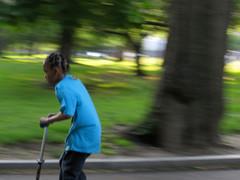 scootering (saudades1000) Tags: park trees boy play garoto fast scooter infancia menino brincando chidhood