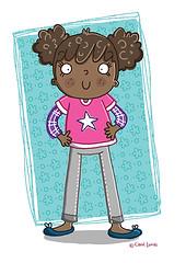 Girly (Carol Lucas Illustration) Tags: girl illustration design sketch kid child drawing character doodle childrens illustrator drawn handdrawn childrensillustration carollucas