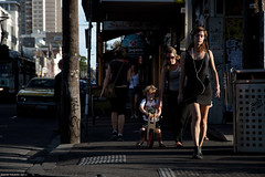 Lost in Sunshine (Ranga 1) Tags: urban girl canon dusk candid fitzroy australian streetphotography australia melbourne streetscene victoria headphones suburbs cinematic urbanlandscape brunswickstreet davidyoung innersuburbs innermelbourne ef24105mmf4lusm canoneos5dmarkii