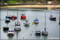 Tenby Harbour 2 (dark-dawud) Tags: sea beach southwales wales boats coast sand harbour seawall coastal northbeach yachts bouy pembrokeshire tenby fishingvessel