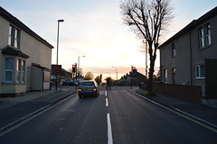 Toronto Road, Horfield, at sunset (gusset) Tags: bristol horfield