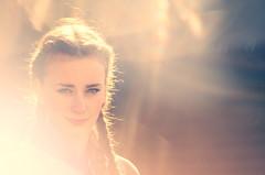 My Golden Girl (LornaTaylor) Tags: portrait sunlight girl caitlin outdoors spring rainbow nikon daughter naturallight greeneyes lensflare teenager braids 90mmlens lornataylor mygoldengirl d7000 taylorimagesca copyright2016lornataylor